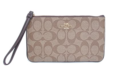 c52a0cddeccb Image Unavailable. Image not available for. Color  COACH SIGNATURE PVC LARGE  WRISTLET