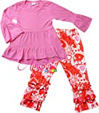 Amazon Price History for:Angeline Boutique Clothing Girls Valentine's Day Ruffles Outfit Set - Various Styles