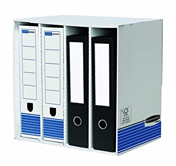 R-Kive 01840 - Contenedor para archivadores (380 x 280 x 90 mm, 5 unidades): Amazon.es: Oficina y papelería