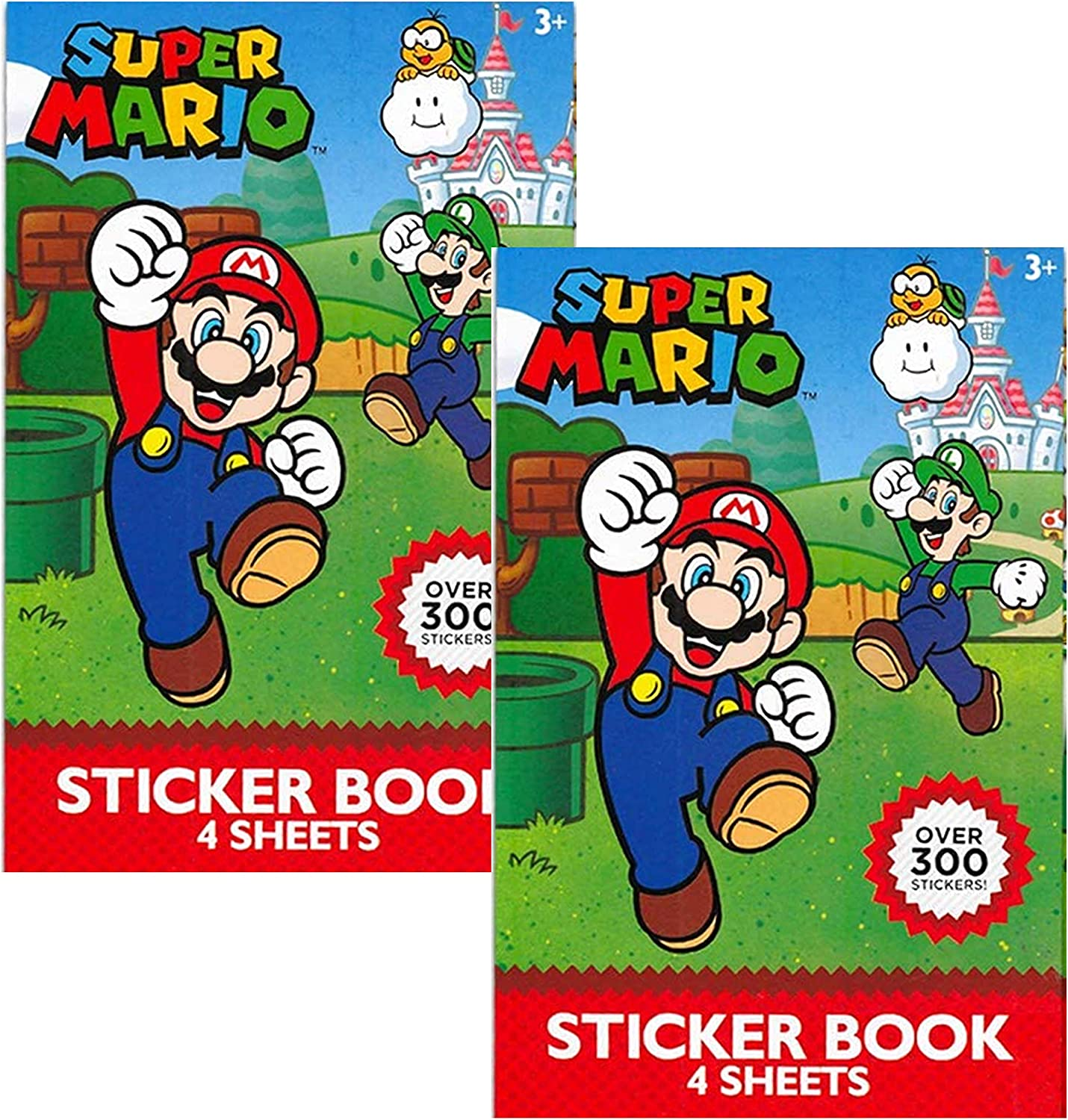 Nintendo Super Mario Stickers Party Favor Packs ~ Over 600 Stickers