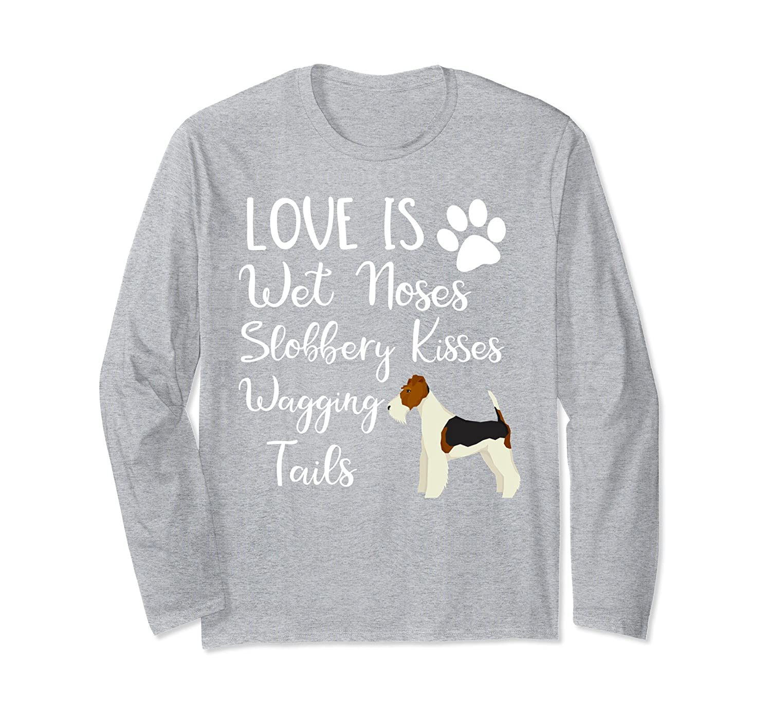 I love My Wire haired Fox Terrier Dog Long Sleeve Shirt-alottee gift ...