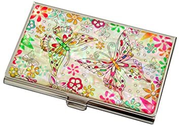 Perlmutt Design Visitenkartenetui Luxus Neu Ovp Metall