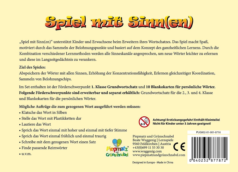SPIEL MIT SINN(EN) - Aktives LRS Spiel und Rechtschreibspiel zur ...