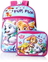 Nickelodeon Girls' Paw Patrol Backpack with Lunch Kit