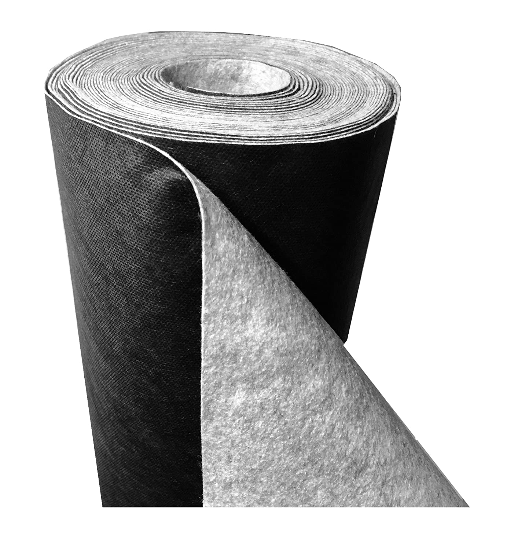 Tear-proof premium garden weed control ground cover membrane fabric, 150g/m², (L) 75m x (W) 1m x (H) 1.3 mm. 150g/m²
