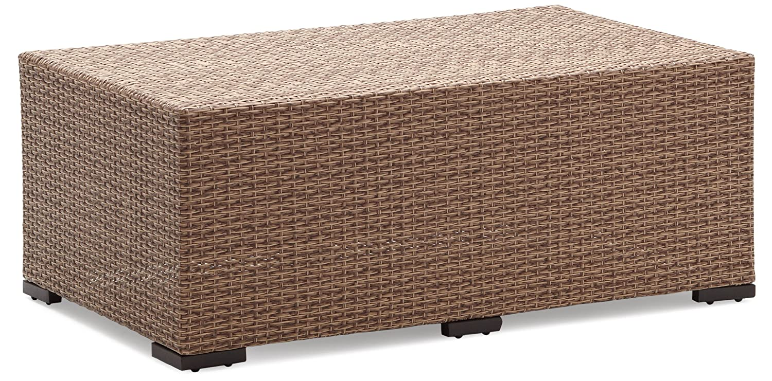 Amazon.com: Strathwood Griffen All-Weather Wicker Coffee Table ...