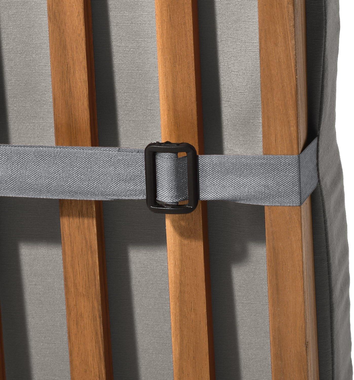 Grigio Chiaro Beautissu Cuscino per Sedia a Sdraio LoftLux DC 175x45x5cm Cuscino sfoderabile per sedie e poltrone da Giardino
