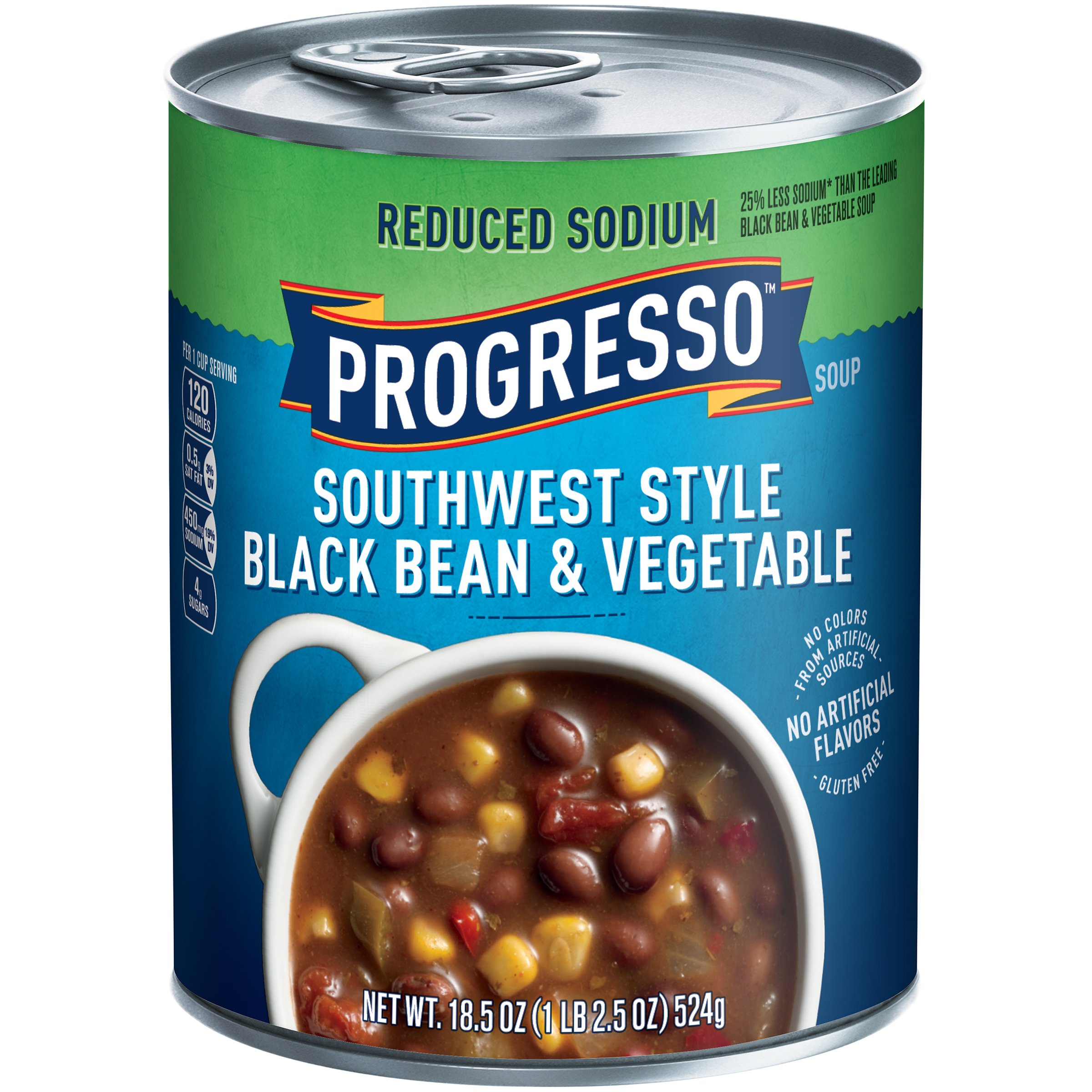 Progresso Heart Healthy Soup, Southwest-Style Black Bean and Vegetable, 18.5-Ounce