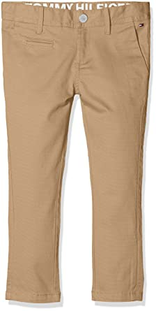 Tommy Hilfiger Ame Skinny Chino Stcd Pd, Pantalon Gar?on, (Cameo Blue 407), 98 (Taille Fabricant: 3)