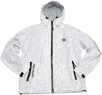 91fc3ab14d43 Santa Cruz Cellular Jacket Kids - White- Small  Amazon.co.uk  Clothing