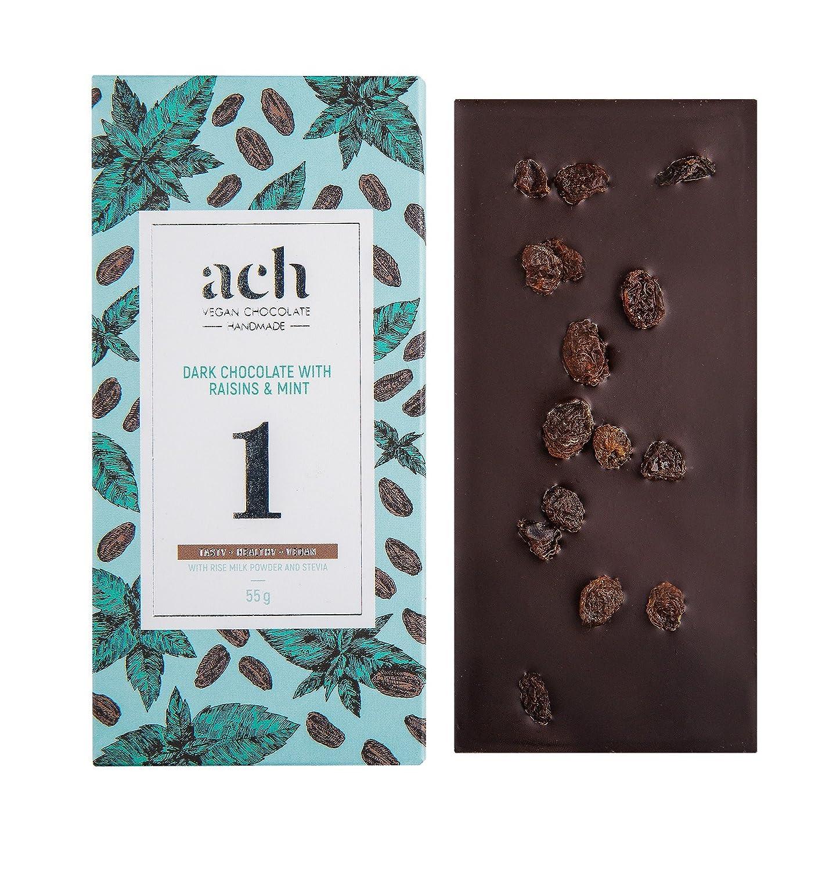 Lujoso Orgánico Chocolate vegano Conjunto 3 sabores sin azúcar chocolate con pasas y menta/chocolate negro/rosa y pimienta negra: Amazon.es: Alimentación y ...