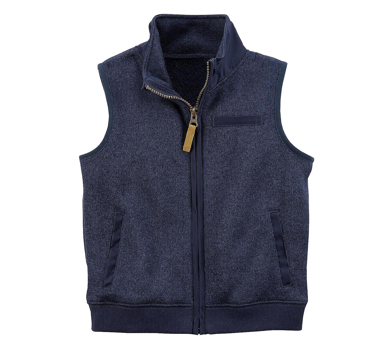 Carter's Boys' 2T-4T Zip Up Sweater Vest 243H185