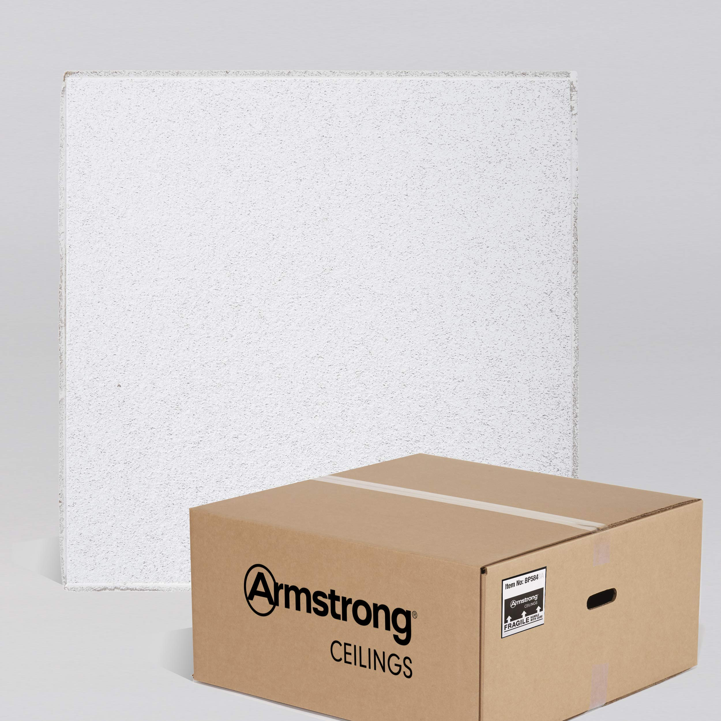 Armstrong Ceiling Tiles; 2x2 Ceiling Tiles - HUMIGUARD Plus Acoustic Ceilings for Suspended Ceiling Grid; Drop Ceiling Tiles Direct from the Manufacturer; CIRRUS Item 584 - 12 pcs White Tegular