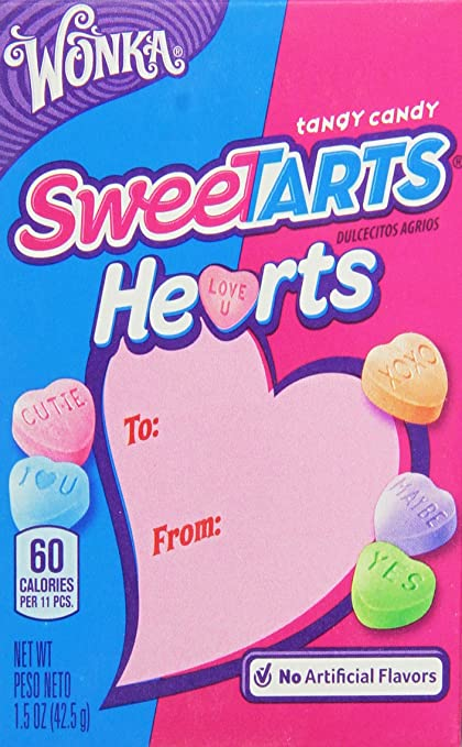 Amazon.com : Wonka Sweetarts Hearts Valentines Day Box, 1.5-Ounce Boxes (Pack of 27) : Candy : Grocery & Gourmet Food