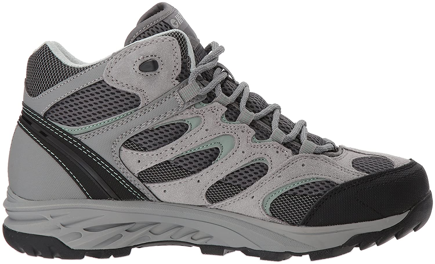 Hi-Tec Women's V-Lite Wild-Fire Mid I Waterproof Hiking Boot B074PWTN19 090M Medium US|Cool Grey/Graphite/Iceberg Green