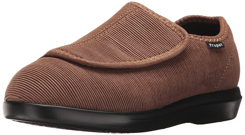 Propét Women's Cush N Foot Slipper B01MQQM7G9 8 W US|Sand Corduroy