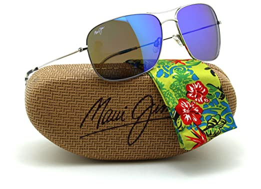 f464760c9a1 Image Unavailable. Image not available for. Colour  Maui Jim B773-17  BREEZEWAY Polarized Titanium Sunglasses Blue Hawaii