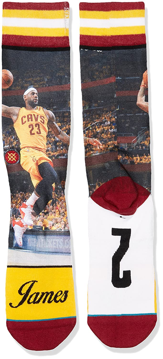 Stance Mens King James Crew Sock, Yellow, Sock Size:10-13/Shoe Size: 6-12 at Amazon Mens Clothing store:
