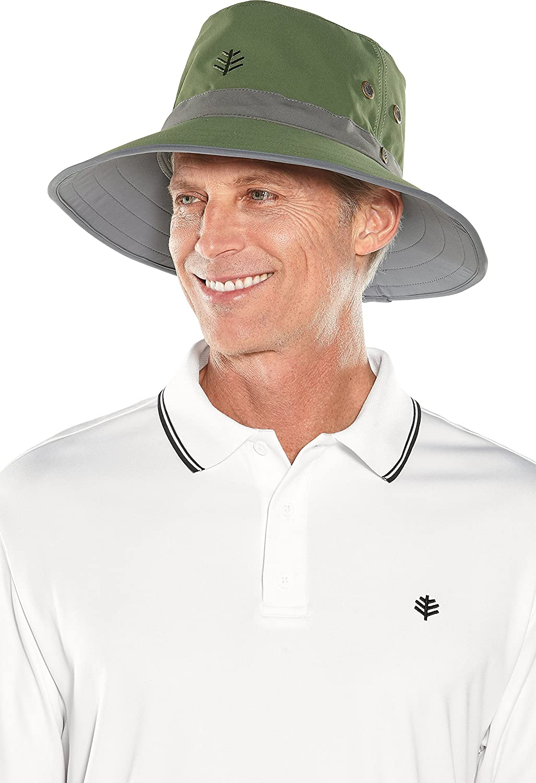Coolibar UPF 50+ メンズ Matchplay ゴルフ ハット - 日焼け防止 B079K2R3CT Large / X-Large|Olive/Carbon Olive/Carbon Large / X-Large