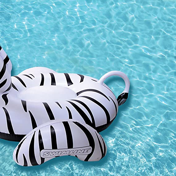 Amazon.com: Swimline Zebra - Flotador hinchable de vinilo ...