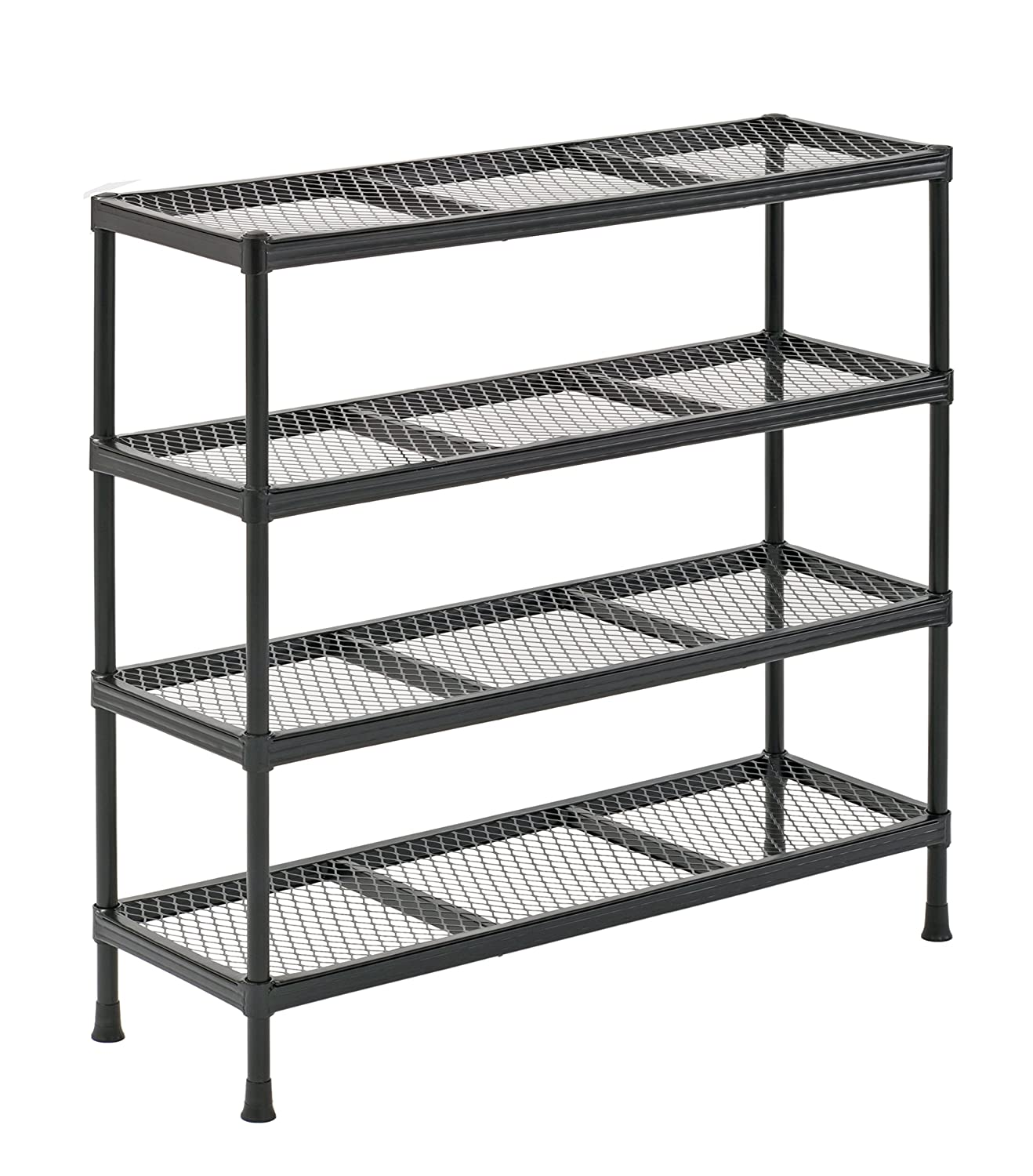 "Sandusky CSR311031 Gray Combination Wire Shelving Unit, 4 Shelves, 31"" Height x 31"" Width x 11"" Depth"