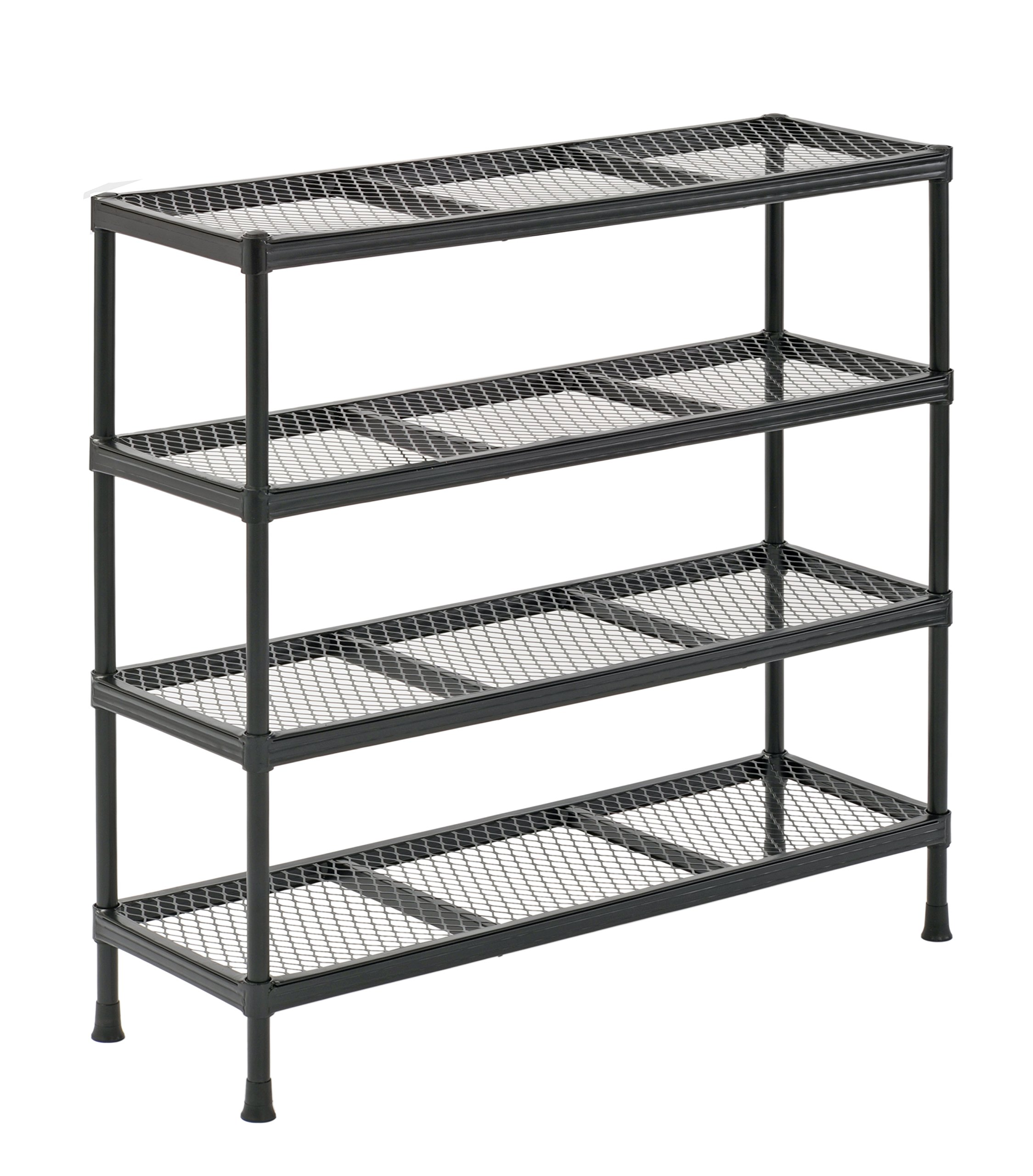 Kitchen Shelf Metal: 4 Tier Metal Shelving Shelf Rack Garage Office Kitchen