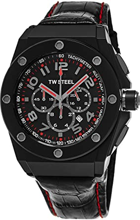 e626c3d47 Image Unavailable. Image not available for. Color: TW Steel CEO Tech Round Stainless  Steel Black Watch ...