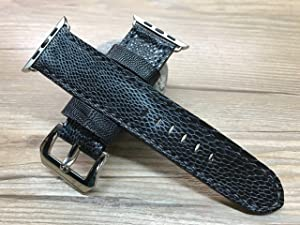 Apple Watch Band | Apple Watch Strap | Black Hawk leg skin leather watch Strap For Apple Watch 38mm & Apple Watch 42mm - Series 1 and 2