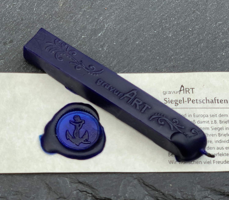 UDIG Siegelwachs mit Docht im 3er Set Schwarz Briefsiegel mittelalterlich erstellen Siegel