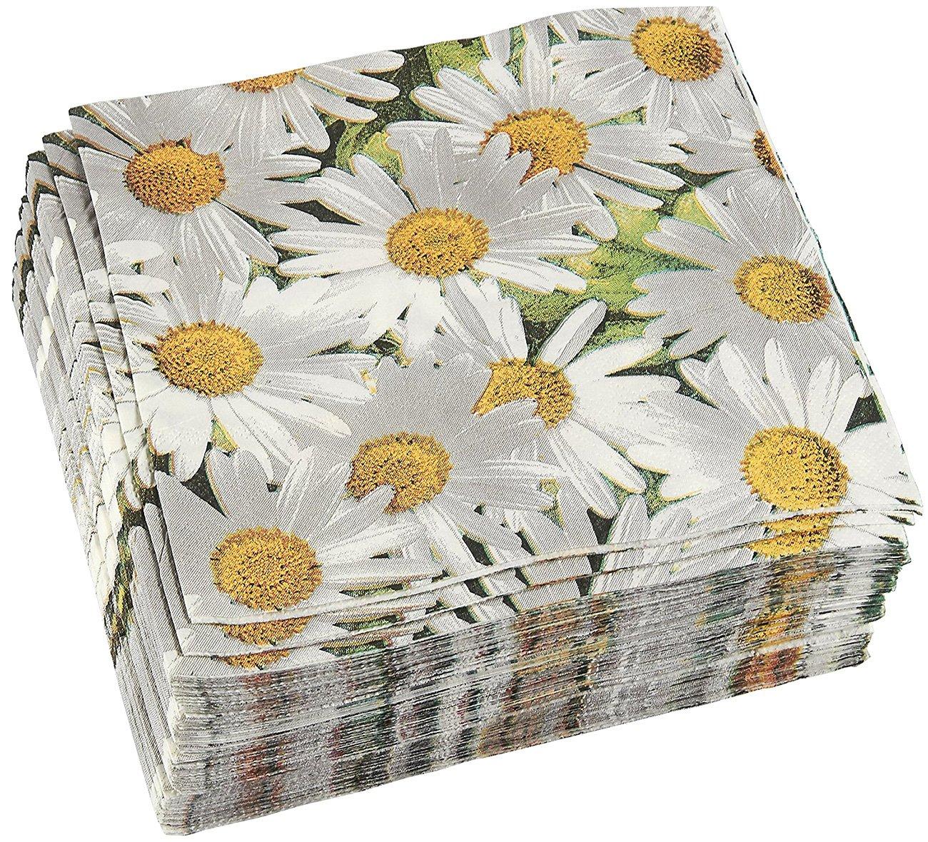Amazon 100 Pack Decorative Dinner Napkins Disposable Paper