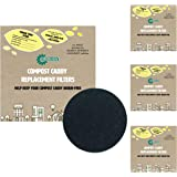 All-Green Compost Caddy Spare Filters - For Melbury, Ashmore & Haselbury Caddies (Pack of 8)