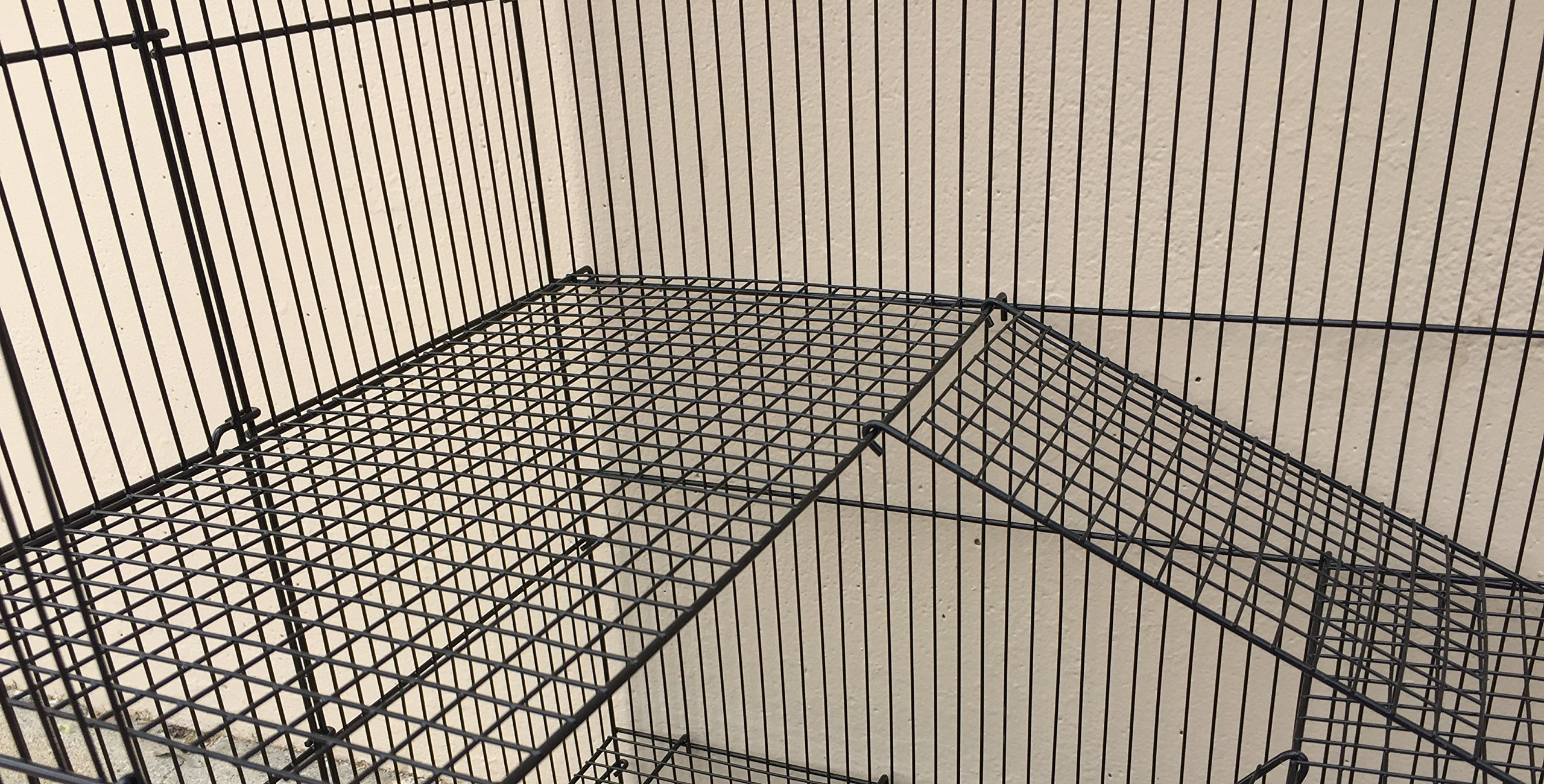 Two Size, 3 Level Ferret Chinchilla Sugar Glider Rats Animal Cage With 1/2 Inch Cross Shelves and Ladders by Mcage (Image #4)
