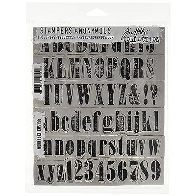 Tim Holtz Cling Mounted Stamp Sets - Juego de Sellos de Goma, diseño de Texto Desgastado: Hogar