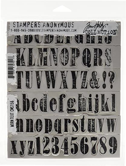 Stampers Anonymous Tim Holtz Cling Rubber Stamp Set 7 by 8.5-Inch Mixed Media