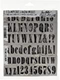 Stampers Anonymous Tim Holtz Cling Rubber Stamp Set, 7 by 8.5-Inch, Worn Text