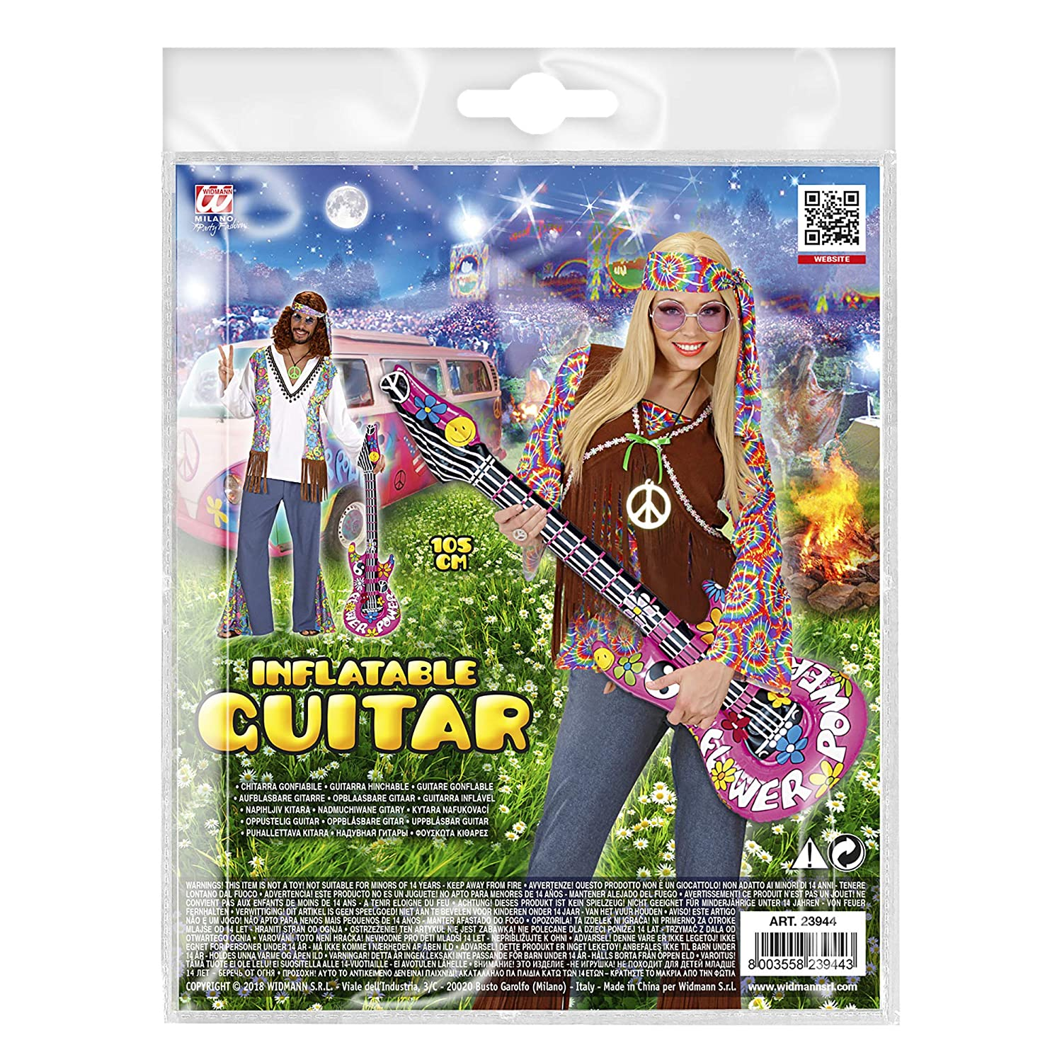 WIDMANN 23944 Hinchable Guitarra, One Size: Amazon.es: Juguetes y ...
