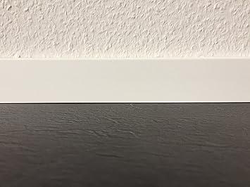 Sehr Sockelleisten mit Nut in rein weiß | Fußleisten mit MDF-Kern MU36