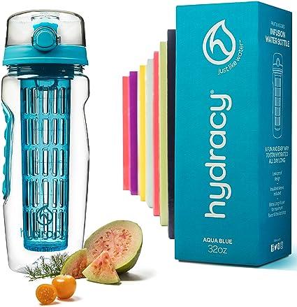 26452a384836 Amazon.com   Hydracy Fruit Infuser Water Bottle - 32 Oz Sports ...