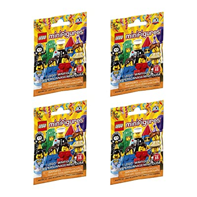 LEGO Minifigure Series 18 - New Sealed Blind Bags - Random Set of 4 (71021): Toys & Games
