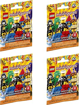 4x Lego Minifigures Series 17 blind bags 71018 NEW SEALED Lot Of 4 Bags