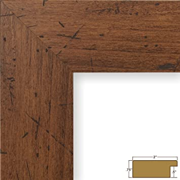 craig frames fm74dkw 85 by 11 inch pictureposter frame smooth grain finish