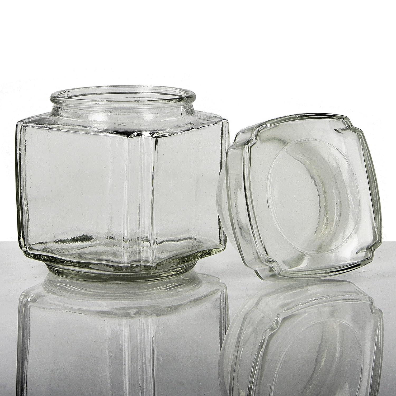 608eec4e125a Amazon.com: Couronne Company 7548-GL Acropolis Recycled Glass Jar 11 ...