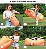 MUSTFIT Inflatable Lounger Bag Hammock Air Sofa and