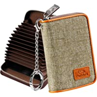 FurArt Cartera para Tarjetas de crédito, con Cremallera, para Hombres y Mujeres, Bloqueo RFID, Llavero, tamaño Compacto