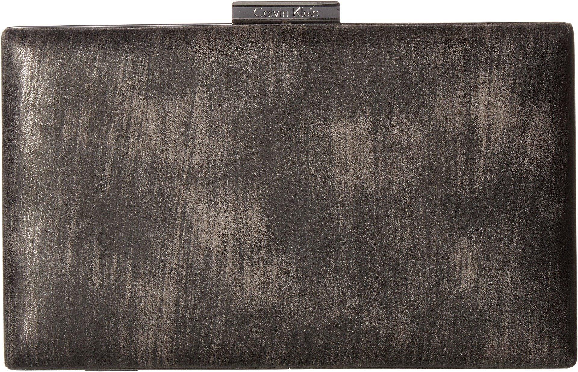 Calvin Klein Women's Brushed Metallic Evening Bag Gunmetal One Size