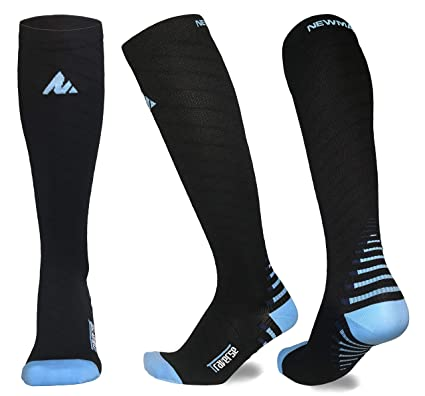 a77431ad8d NEWMARK Compression Socks for Men & Women, Best Graduated Stockings for  Runners, Nurses,