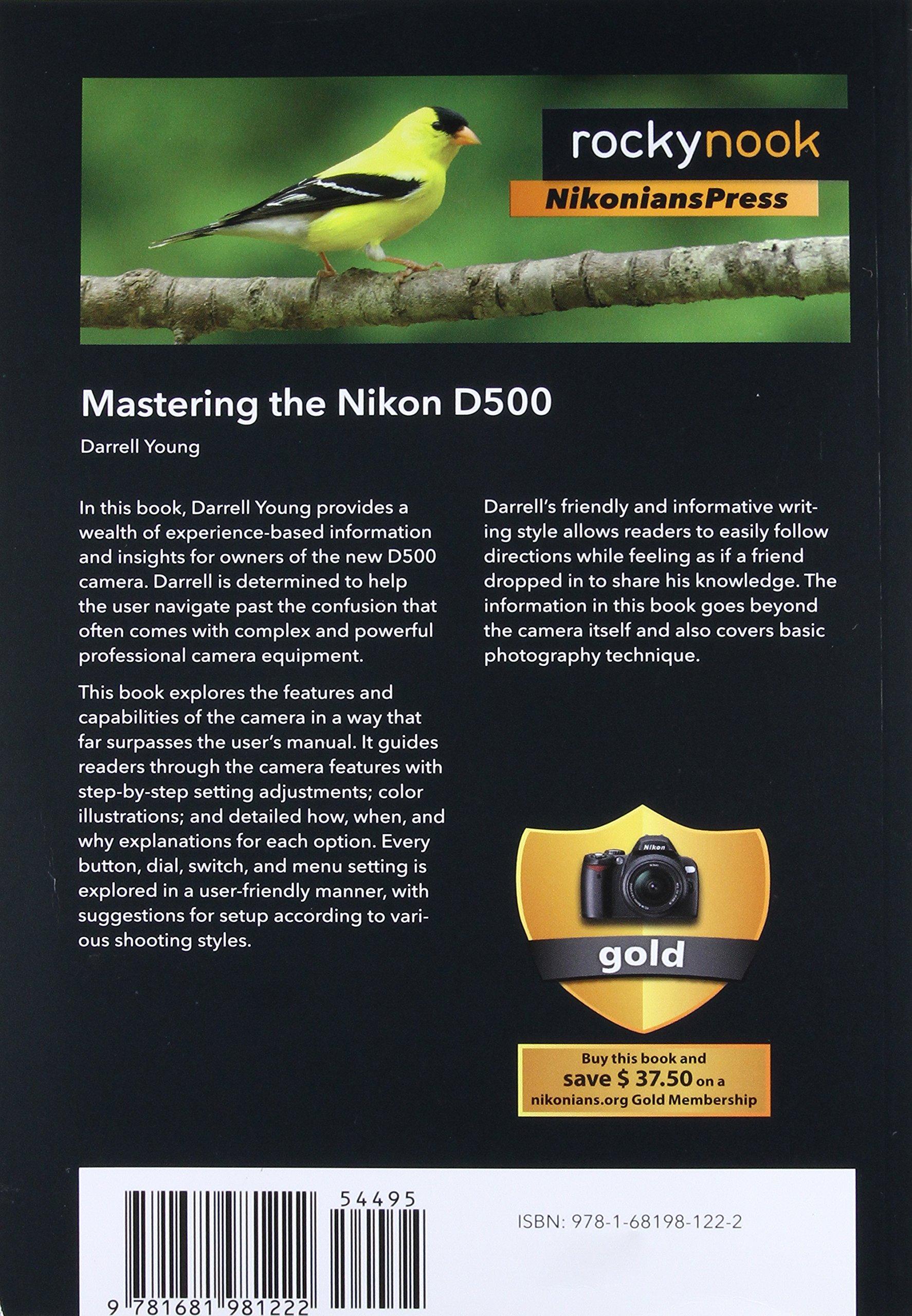 mastering the nikon d500 amazon co uk darrell young 9781681981222