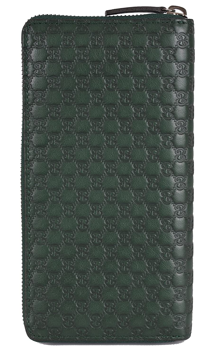 de58c14d7919ad Amazon.com: Gucci Unisex Green Leather Micro GG Guccissima Zip Around Wallet  O/S: Clothing