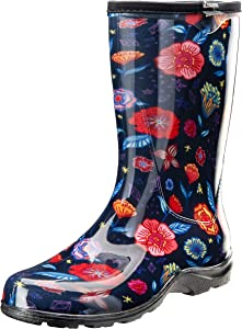 Sloggers Women's Waterproof Rain and Garden Boot with Comfort Insole (7, Chelsea Floral)