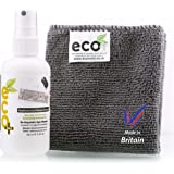 Ecomoist Natural Keyboard and Mouse cleaner. 100Ml comes with High Quality Microfiber Towel. Best for Keyboards, Mouse, Pads, joysticks, game consoles etc. Kills 99.99% of all germs. Green Product. Made in UK.